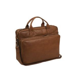 Chesterfield-laptoptas-cognac-jackson